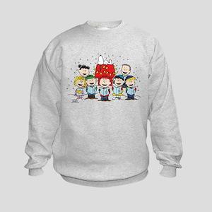 Peanuts Gang Christmas Kids Sweatshirt