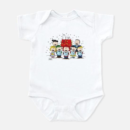 Peanuts Gang Christmas Baby Light Bodysuit