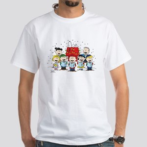 Peanuts Gang Christmas White T-Shirt