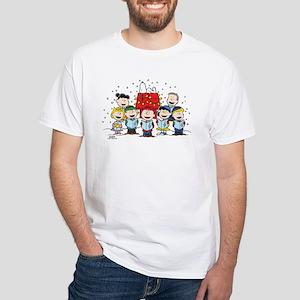 Peanuts Gang Christmas White T-Shirt