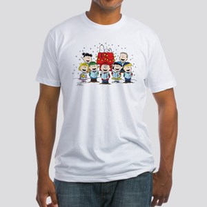Peanuts Gang Christmas Fitted T-Shirt