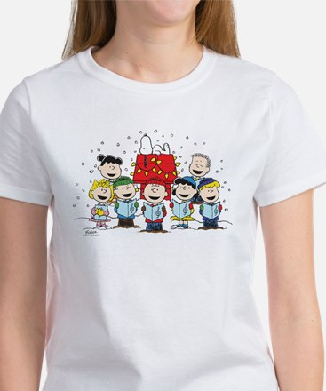 Peanuts Gang Christm Women's Classic White T-Shirt