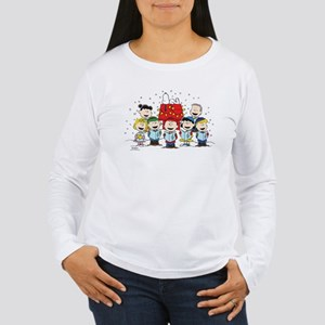 Peanuts Gang Christmas Women's Long Sleeve T-Shirt