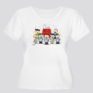 60d4dae63ce Peanuts Christmas Women s Plus Size T-Shirts - CafePress