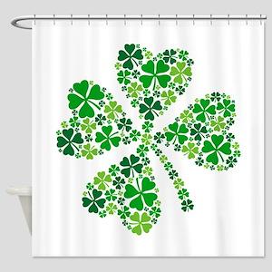 lucky four-leaf clover Shower Curtain