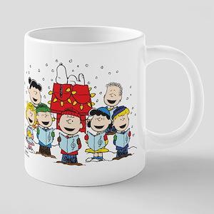Peanuts Gang Christmas 20 oz Ceramic Mega Mug