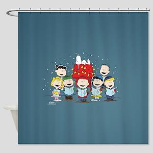 Peanuts Gang Christmas Shower Curtain