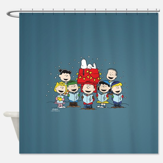 Peanuts Gang Christmas Shower Curtain