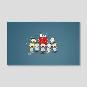 Peanuts Gang Christmas Car Magnet 20 x 12