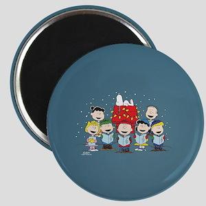 Peanuts Gang Christmas Magnet