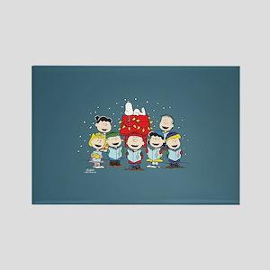 Peanuts Gang Christmas Rectangle Magnet