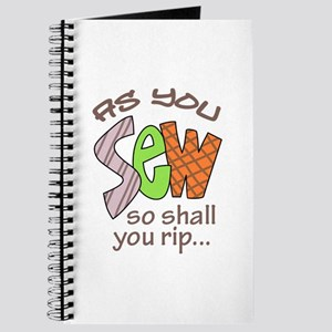 SEW SHALL YOU RIP Journal