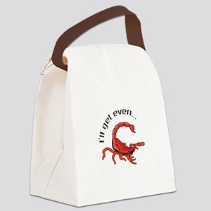 ILL GET EVEN Canvas Lunch Bag
