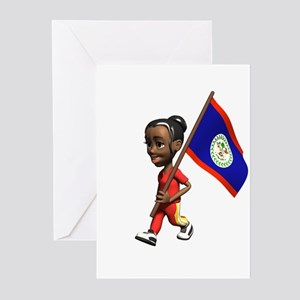 Belize Girl Greeting Cards (Pk of 10)