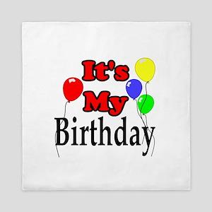 Its My Birthday Queen Duvet