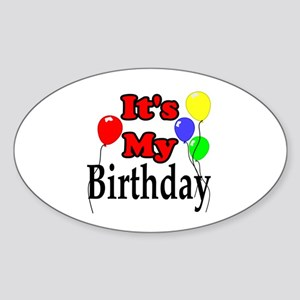 Its My Birthday Sticker (Oval)