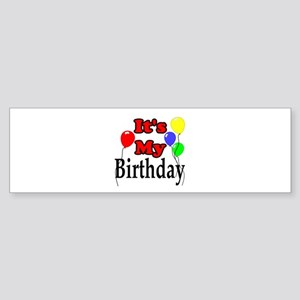 Its My Birthday Sticker (Bumper)
