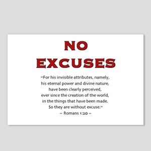 No Excuses 2.0 - Postcards (Package of 8)