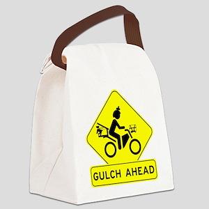 Warning Gulch Ahead Canvas Lunch Bag