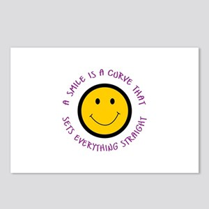 A SMILE IS A CURVE Postcards (Package of 8)
