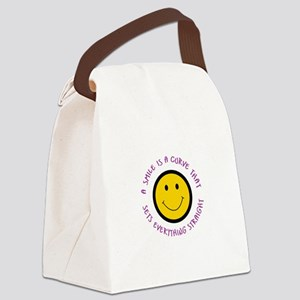 A SMILE IS A CURVE Canvas Lunch Bag