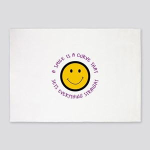 A SMILE IS A CURVE 5'x7'Area Rug