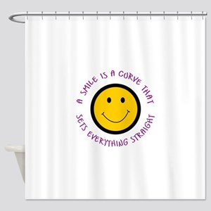 A SMILE IS A CURVE Shower Curtain