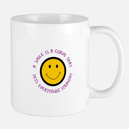 A SMILE IS A CURVE Mugs