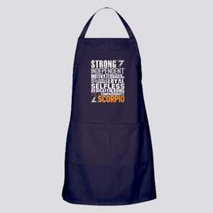 Strong Independent Motivated Scorpio Apron (dark)