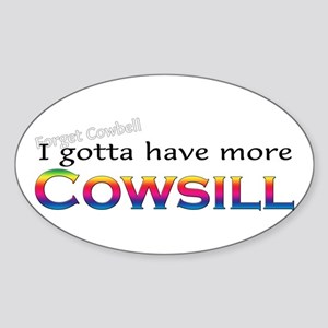 More Cowsill Rainbow Oval Sticker