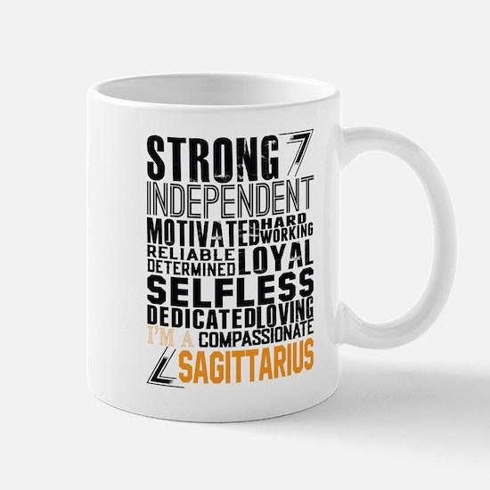 Strong Independent Motivated Sagittarius Mugs