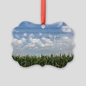 Prayer of the Farmer Picture Ornament