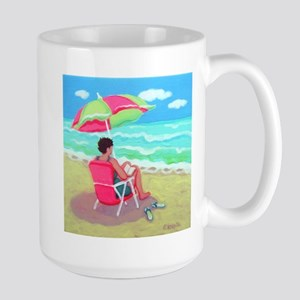 A Perfect Beach Day Large Mug