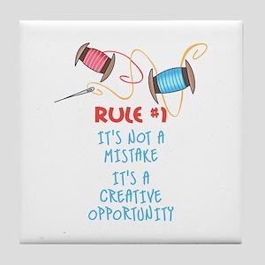 Rule #1 Tile Coaster