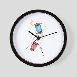 NEEDLE AND THREAD Wall Clock
