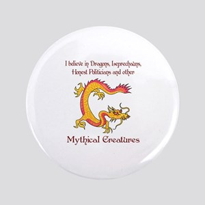 """I Believe In Dragons 3.5"""" Button"""
