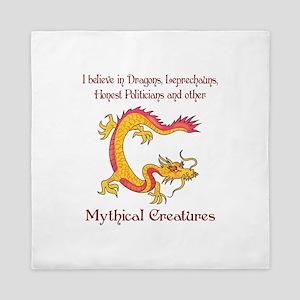 I Believe In Dragons Queen Duvet