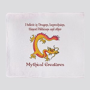 I Believe In Dragons Throw Blanket