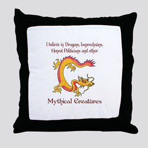 I Believe In Dragons Throw Pillow