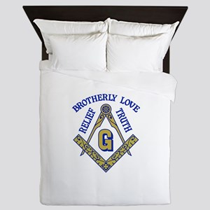 Brotherly Love Relief Truth Queen Duvet