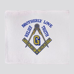 Brotherly Love Relief Truth Throw Blanket