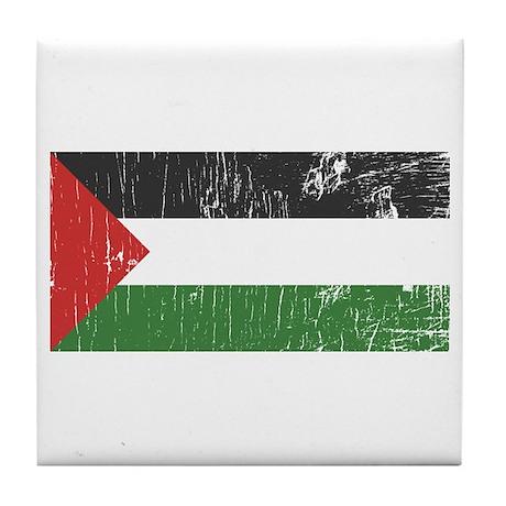 Vintage Palestine Tile Coaster