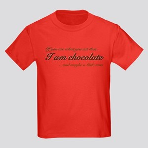 """You are what you eat - choco Kids Dark T-Shirt"