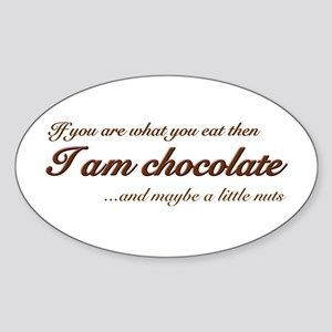 """""""You are what you eat - choco Oval Sticker"""