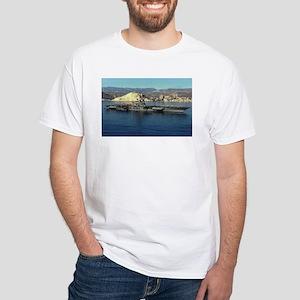 USS Coral Sea Ship's Image White T-Shirt
