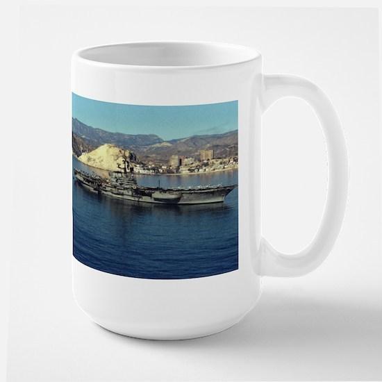 USS Coral Sea Ship's Image Large Mug