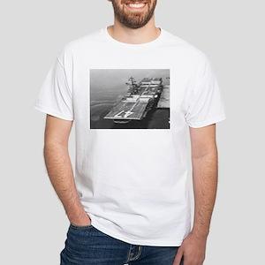 USS Philippine Sea Ship's Image White T-Shirt