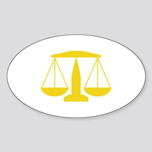 SCALES OF JUSTICE Sticker
