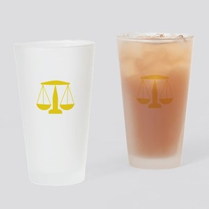 SCALES OF JUSTICE Drinking Glass