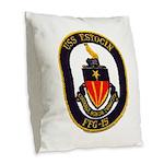 USS ESTOCIN Burlap Throw Pillow